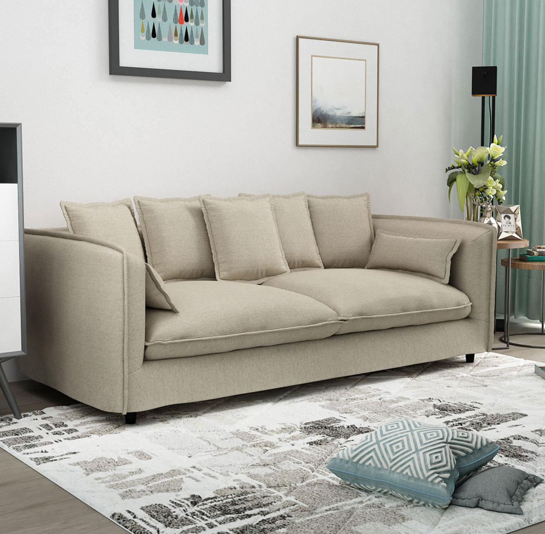 ספה תלת מושבית לסלון דגם ADAM מרווחת ונעימה לישיבה בעלת כריות נוי BRADEX - תמונה 4