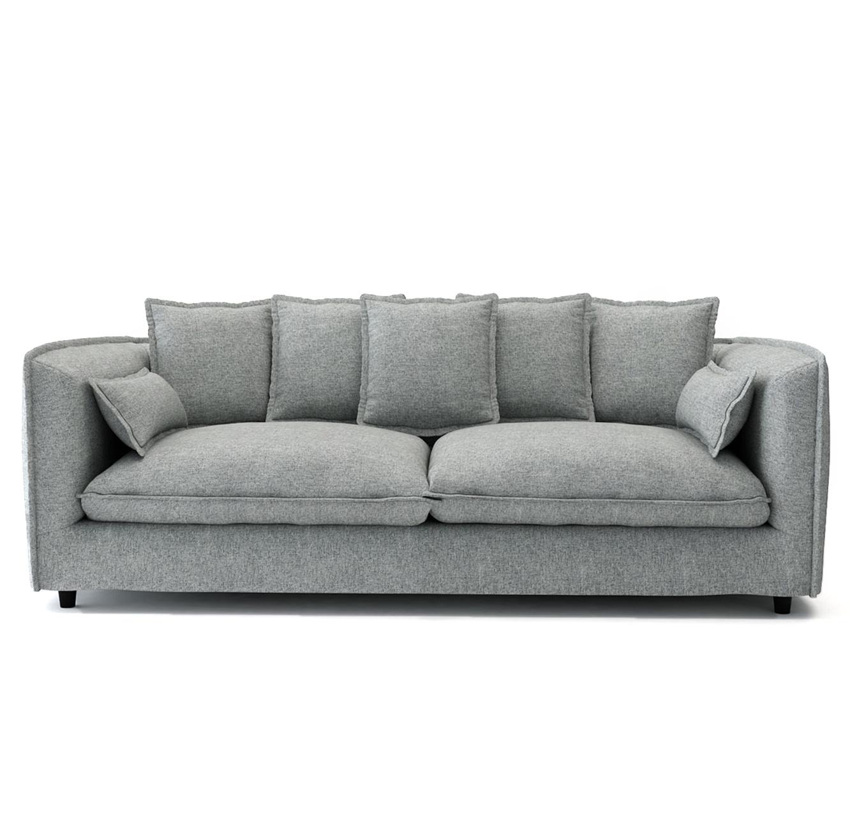 ספה תלת מושבית לסלון דגם ADAM מרווחת ונעימה לישיבה בעלת כריות נוי BRADEX - תמונה 5