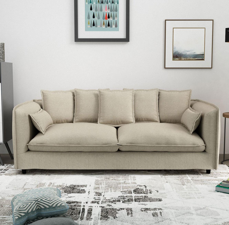 ספה תלת מושבית לסלון דגם ADAM מרווחת ונעימה לישיבה בעלת כריות נוי BRADEX - תמונה 3