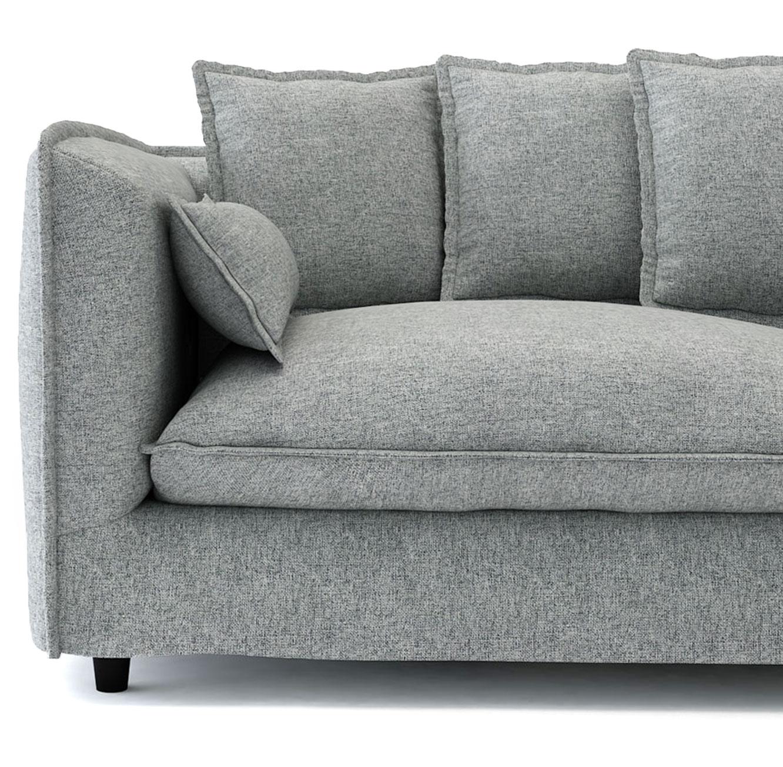 ספה תלת מושבית לסלון דגם ADAM מרווחת ונעימה לישיבה בעלת כריות נוי BRADEX - תמונה 7