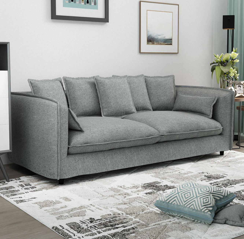 ספה תלת מושבית לסלון דגם ADAM מרווחת ונעימה לישיבה בעלת כריות נוי BRADEX - תמונה 2