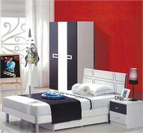 חדר ילדים כולל מיטה וחצי עם מזרון + ארון 3 דלתות ושידה