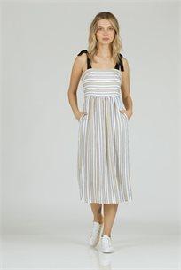 שמלה כתפיות קשירה כאמל - CUBiCA