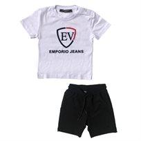 חליפת Emporio Valentini לילדים (מידה 18-2 שנים) לבן
