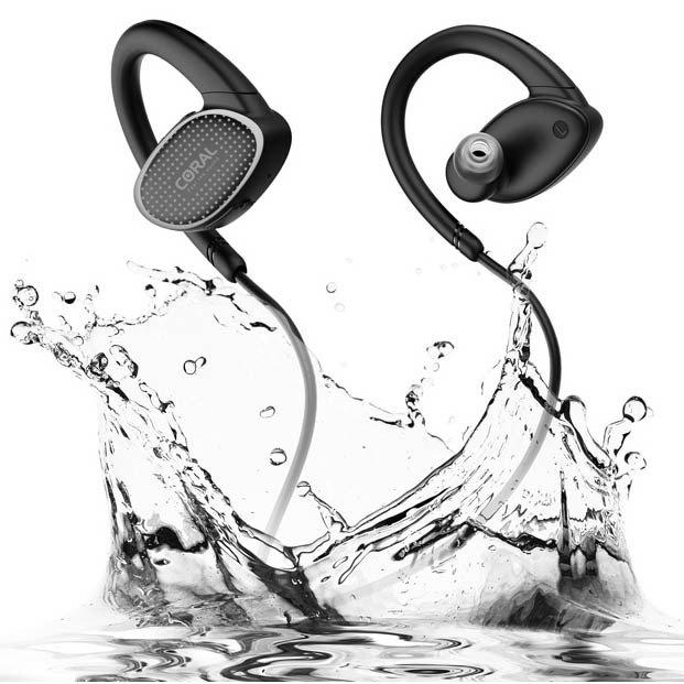 אוזניות בלוטוס ספורט Coral עמידות למים