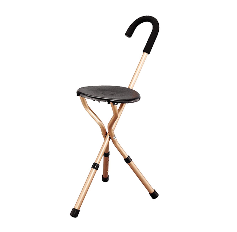 מקל כסא מתכוונן בעל 3 רגליים ויכולת התאמה של גובה הכסא