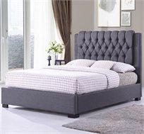 מיטה זוגית מרופדת בד עם ראש מיטה ייחודי דגם רומי HOME DECOR