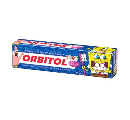 3 יחידות משחת שיניים לילדים בובספוג בטעם ענבים