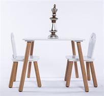 סט שולחן וכיסאות לילדים