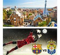 3 לילות בברצלונה כולל כרטיס למשחק ברצלונה מול לאס פאלמס רק בכ-€484* לאדם