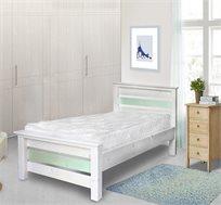 מיטת ילדים דגם יהלי מעץ אורן מלא כולל מזרן אורטופדי