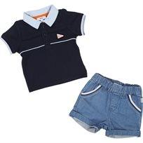 BOSS בוס (3-18 חודשים) סט ג'ינס וחולצה