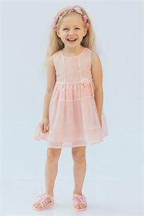 שמלת אריג לבנות Kiwi בשני צבעים לבחירה