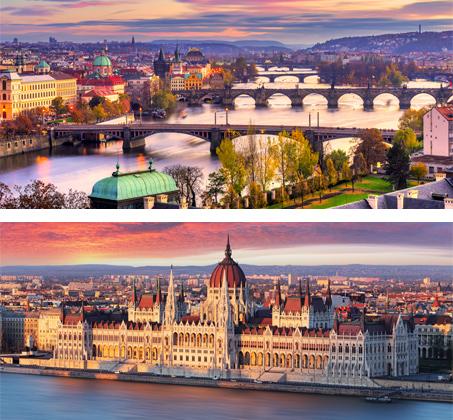 """לאורך הדנובה - 8 ימי טיול מאורגן בין בודפשט לפראג כולל אירוח ע""""ב לינה וא.בוקר החל מכ-$539*"""