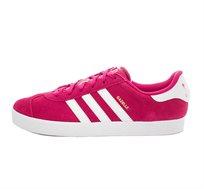 נעלי אדידס אוריגינל אופנתיות לנשים ונוער ADIDAS ORIGINAL GAZELLE 2J BA9315 בצבע ורוד/לבן