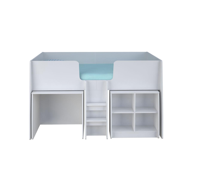 מיטת ילדים גלריה + מזרן + כוורת ושולחן כתיבה ניידים דגם קומפלט תוצרת סוכריה - תמונה 4