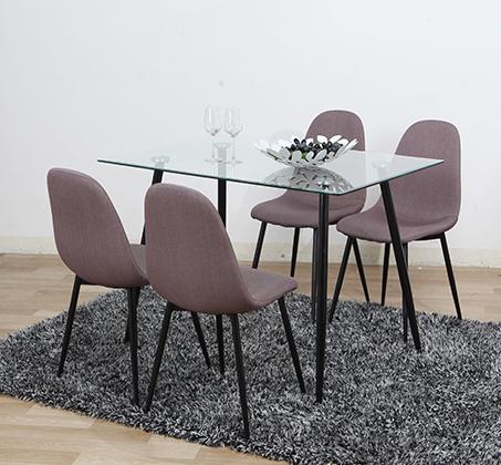 כסא אוכל מרופד בעיצוב מודרני וייחודי דגם 800 - תמונה 2