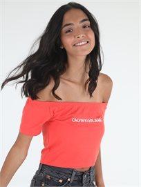 חולצה קלווין קליין אדומה לנשים