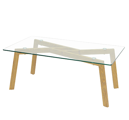 שולחן קפה סלוני אלגנטי עשוי זכוכית