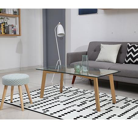 שולחן קפה מלבני נמוך בסגנון מודרני בשילוב זכוכית  - תמונה 2