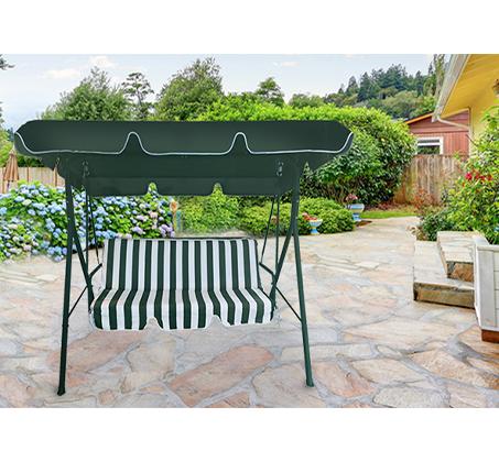 נדנדה עם גגון לגינה או למרפסת בעלת שילדת מתכת מתאימה לעד שלושה אנשים  במבחר צבעים CAMP IN - משלוח חינם - תמונה 2