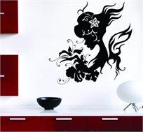 מדבקת קיר - דיוה, בדמות אישה מודרנית להדבקה על קירות הבית למראה ציור אמיתי