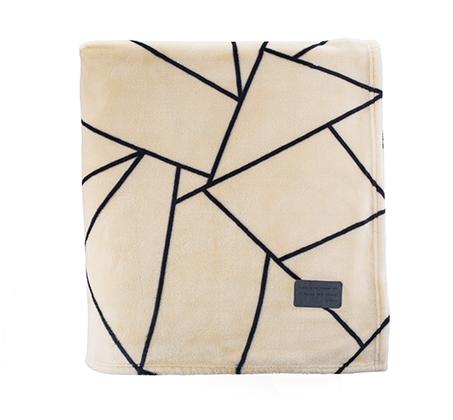שמיכה חורף דגם ספייס בצבע שמנת בהיר ורדינון