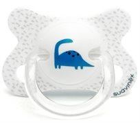 מוצץ סיליקון פיוז'ן לפגים ותינוקות קטנים 2- עד 4 חודשים - דינוזאור לבן