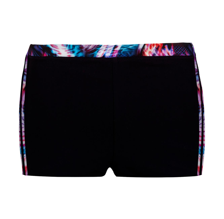 מכנסון מקולקציית FREE BY GOTTEX - שחור עם פסי פרינט צבעוני מנומר
