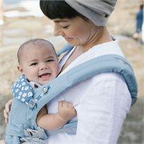 מנשא לתינוק הכל באחד מגיל לידה אומני 360 Omni - תכלת Blue Daisies