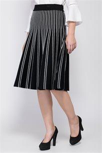 חצאית סריג ז´קארד פסים