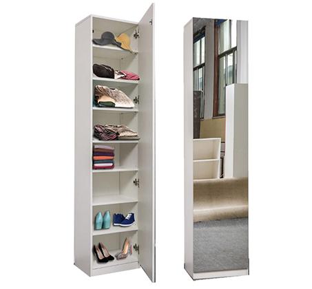 ארון אחסון עם דלת מראה בעל 8 תאי אחסון דגם שגיא