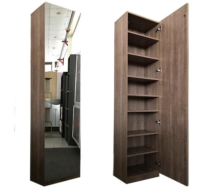 ארון איחסון בעל 8 תאי אחסון ודלת עם מראה מתאים לכל חדרי הבית - תמונה 2