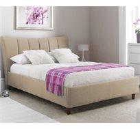 מיטה זוגית GAROX בריפוד בד רך למגע 140X190 דגם TERESA