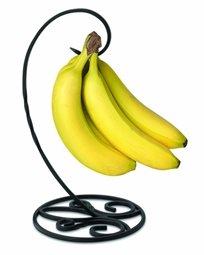 מעמד בננות פאטריס עשוי ממתכת חזקה מאפשר גישת אויר ושומר על טריות הבננות