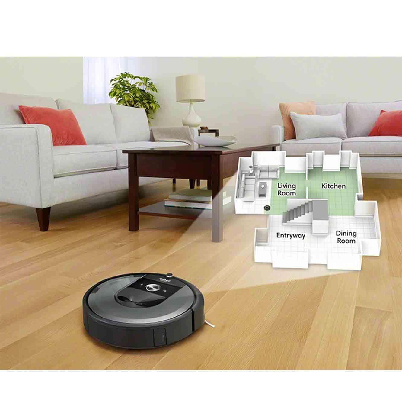 שואב אבק רובוטי +iRobot Roomba i7 בעל מערכת אוטומטית לסילוק פסולת - משלוח חינם - תמונה 3