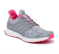 סניקרס Adidas Juniors Rapida Run Lux לנשים ולנערות בצבע אפור/ורוד