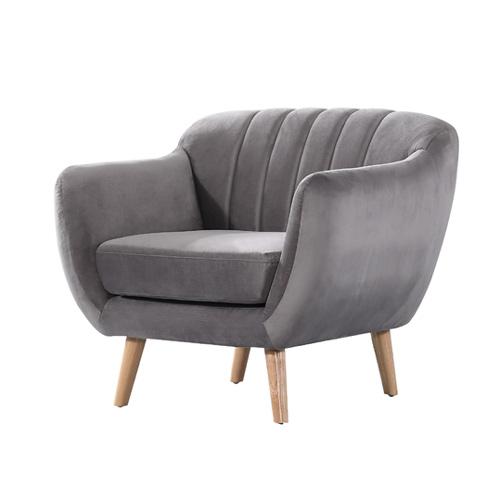 כורסא מעוצבת בעיצוב רטרו עם ריפוד בד קטיפה נעים למגע דגם רותם HOME DECOR  - תמונה 4