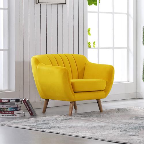כורסא מודרנית בריפוד בד קטיפתי דגם ROTEM