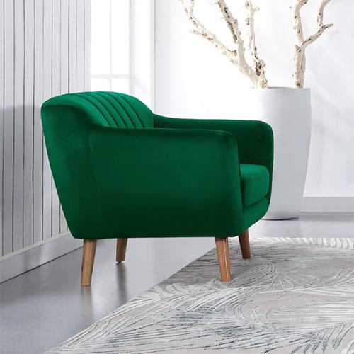 כורסא מעוצבת בעיצוב רטרו עם ריפוד בד קטיפה נעים למגע דגם רותם HOME DECOR  - תמונה 5
