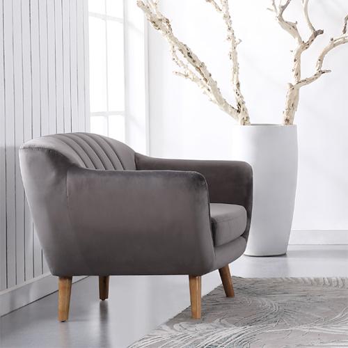 כורסא מעוצבת בעיצוב רטרו עם ריפוד בד קטיפה נעים למגע דגם רותם HOME DECOR  - תמונה 3