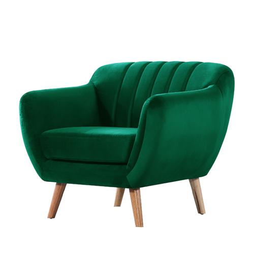 כורסא מעוצבת בעיצוב רטרו עם ריפוד בד קטיפה נעים למגע דגם רותם HOME DECOR  - תמונה 6