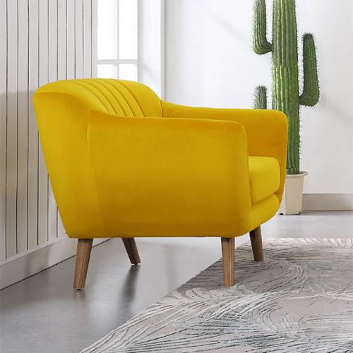 כורסא מעוצבת בעיצוב רטרו עם ריפוד בד קטיפה נעים למגע דגם רותם HOME DECOR  - תמונה 2