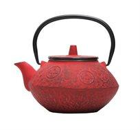 קומקום תה יפני Sigma מעוצב יציקת ברזל בשילוב אמייל GURO במגוון צבעים לבחירה