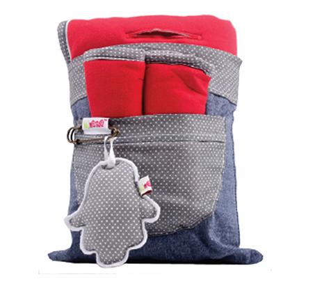סט משטח מרופד דו צדדי וחבקים לעגלת התינוק 100% כותנה מבית מיננה - משלוח חינם - תמונה 2