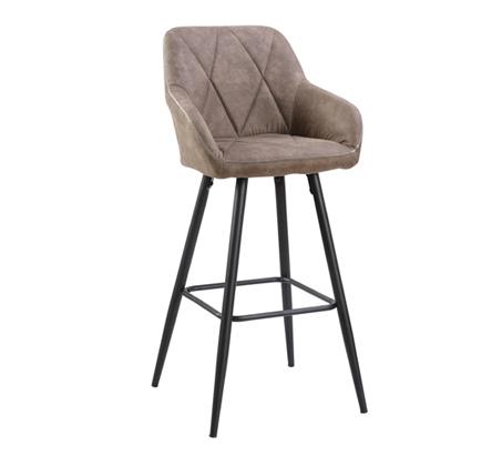 כיסא בר מעוצב עם רגלי מתכת דגם טקסס