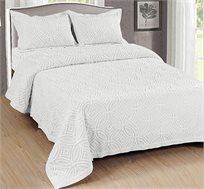 כיסוי מיטה VENIS כולל ציפית לכרית בצבע שמנת