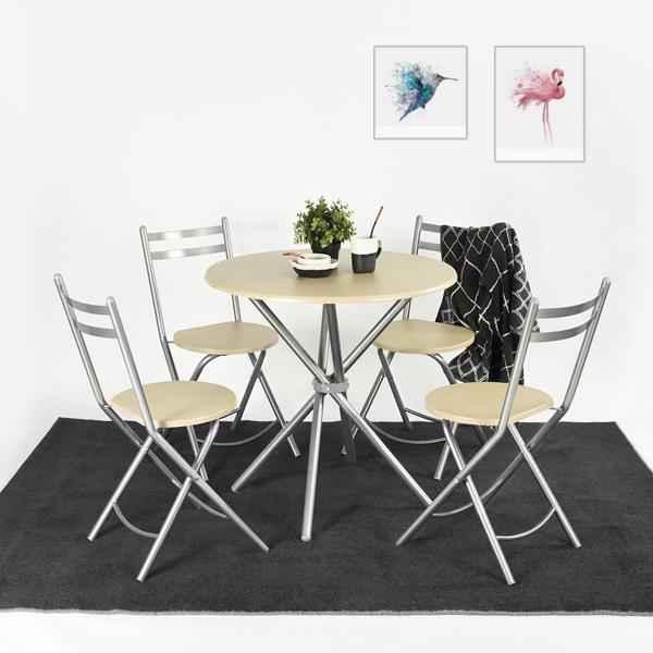 פינת אוכל הכוללת שולחן וארבע כיסאות דגם בריטני - למרפסת, לחצר או לפינת האוכל Homax - תמונה 2