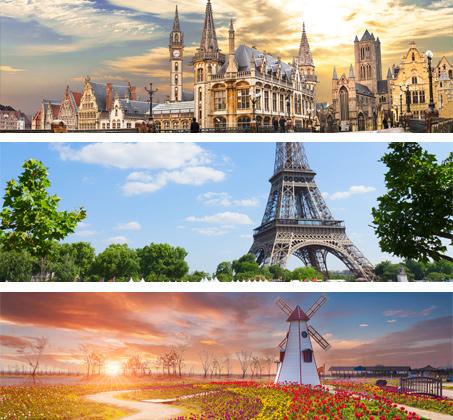 """8 ימי טיול מאורגן בארצות השפלה- בלגיה, צרפת, והולנד ע""""ב א.בוקר החל מכ-$676*"""