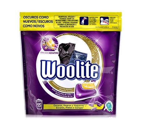 3 אריזות קפסולות ג'ל לכביסה Woolite לבגדים כהים